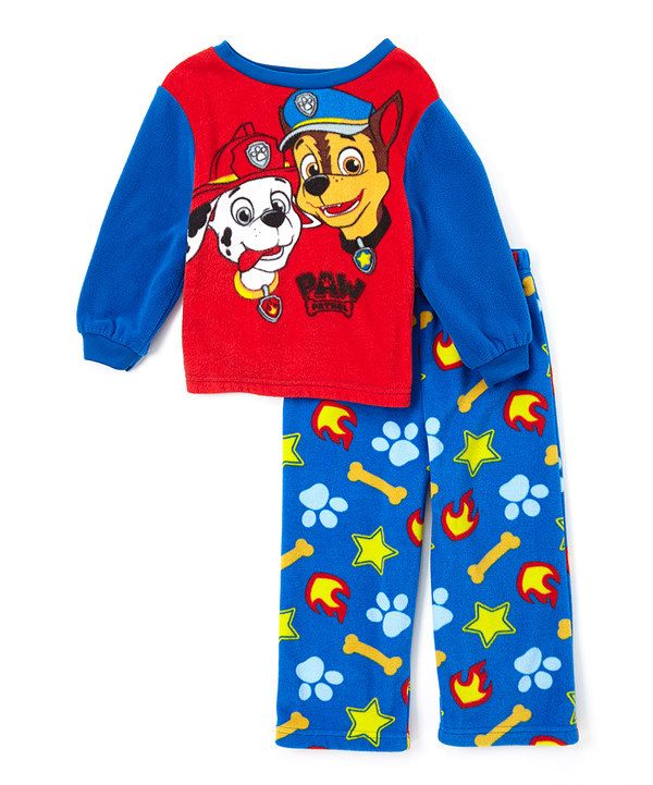 80113906b Look at this Blue   Red PAW Patrol Pajama Set - Toddler on  zulily ...