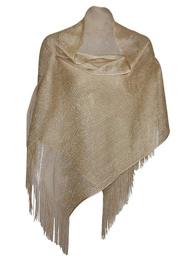 Vijiv Womens 1920s Gatbsy Vintage Shawl Wrap For Bridal Prom Wedding Party Evening Dresses