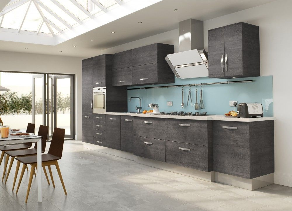 Kitchen : Grey High Gloss Wood Kitchen Cabinet With Grey Metal Chrome  Island Range Hood Also Stainless Steel Modern Bar Stool And Grey Granite  Kitchen ...