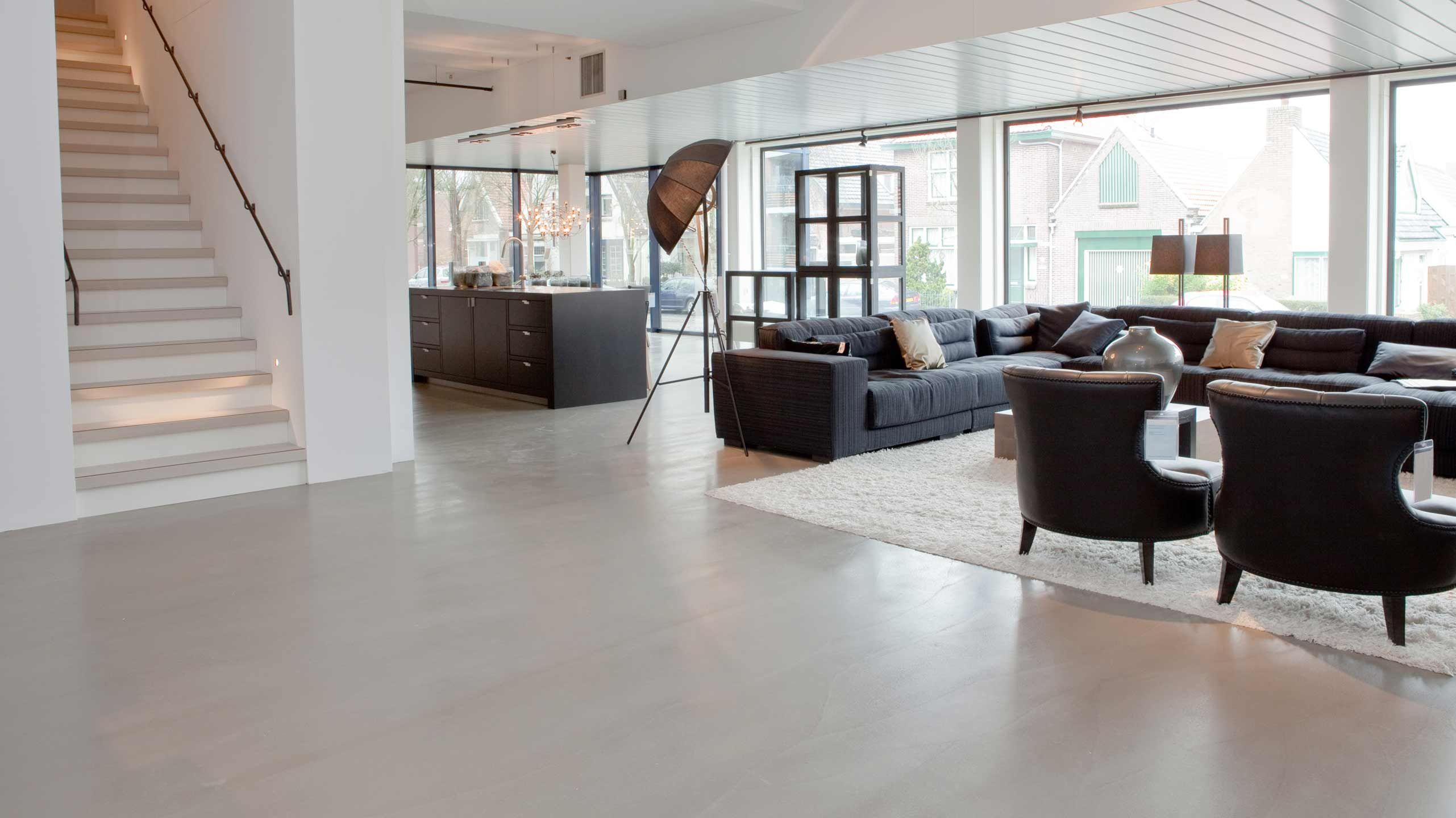 Pandomo Designboden Bodenbelage Ohne Fugen In Vielen Farben Raumausstattung Merget Wohnen Beton Estrich Bodenbeschichtung