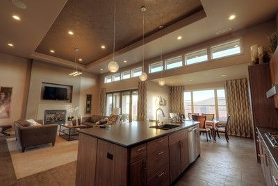 Plan 69495am Efficiency At Its Best Contemporary House Plans Open Floor Plan Kitchen Open Floor House Plans