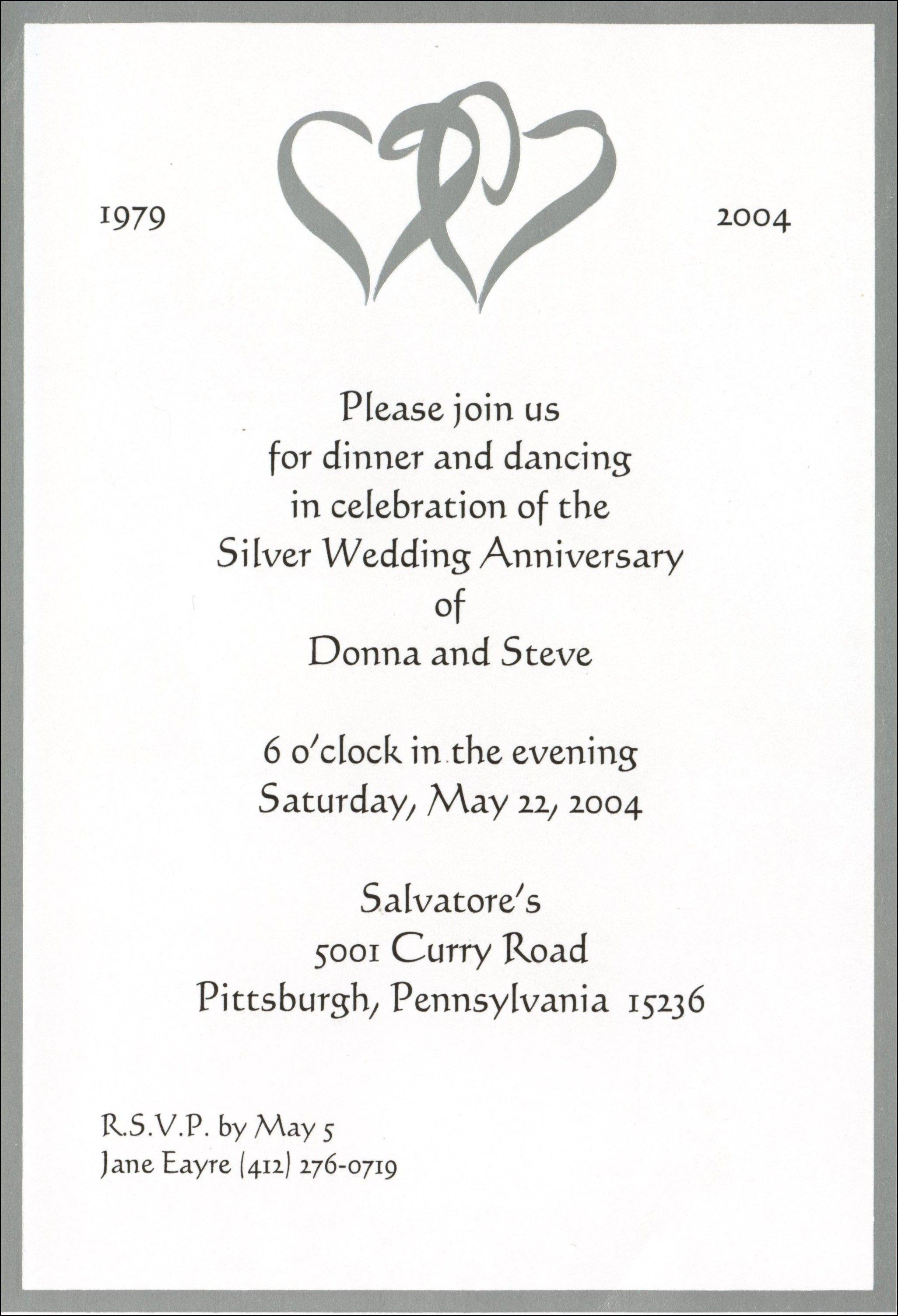 25 Wedding Anniversary Invitations 50th Wedding