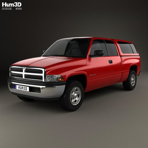 Dodge Ram 1500 Club Cab: 3D Model Of Dodge Ram 1500 Club Cab ST 1999