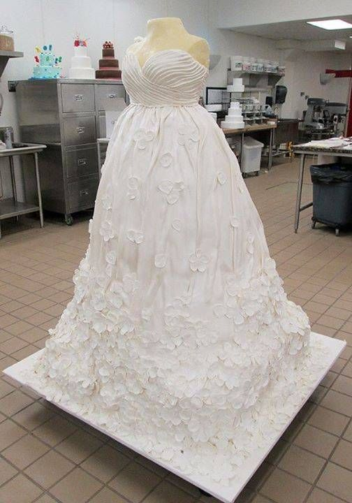 A Buddy Valastro Cake. It looks exactly like a real dress ...