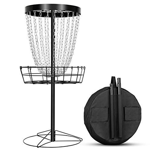 Amazon Com Yaheetech Disc Golf Basket Target 24 Chain Portable Metal Golf Goals Baskets W Carrying Bag Practice Set Sp Disc Golf Basket Disc Golf Portable
