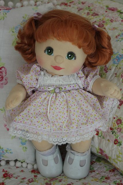 My Child Doll with red hair and green eyes. This was my doll as a child. I didn't like cabbage patch dolls. I named her Heather.
