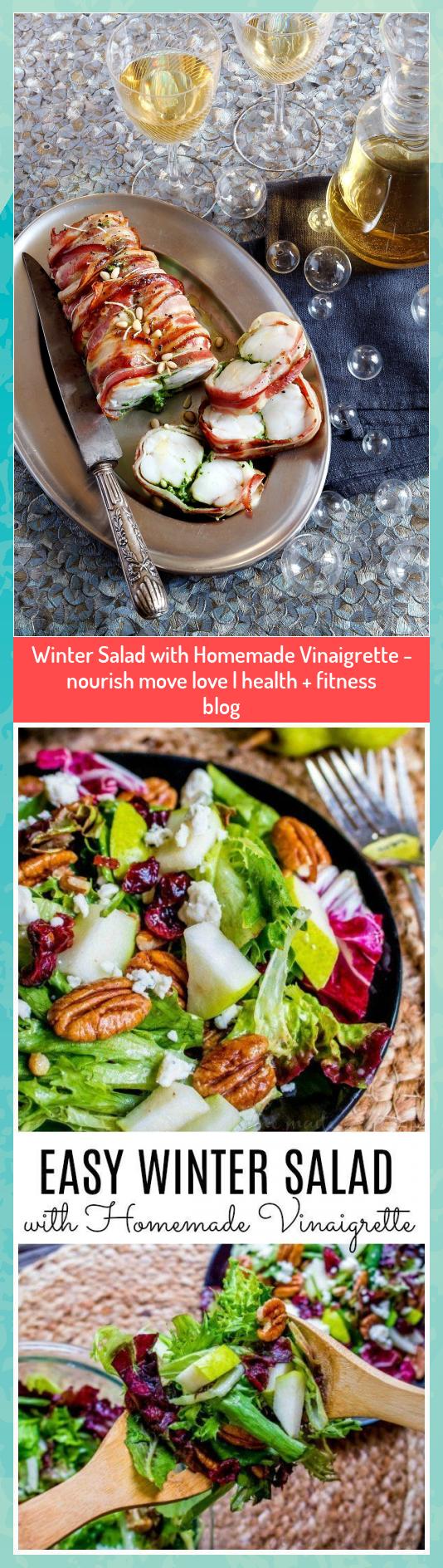 Winter Salad with Homemade Vinaigrette - nourish move love | health + fitness blog #blog #fitness #h...