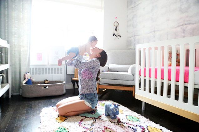 THE GLOW | Violet Gaynor In Plumu0027s Nursery With Nursery Works Sleepytime  Rocker ... Design Inspirations