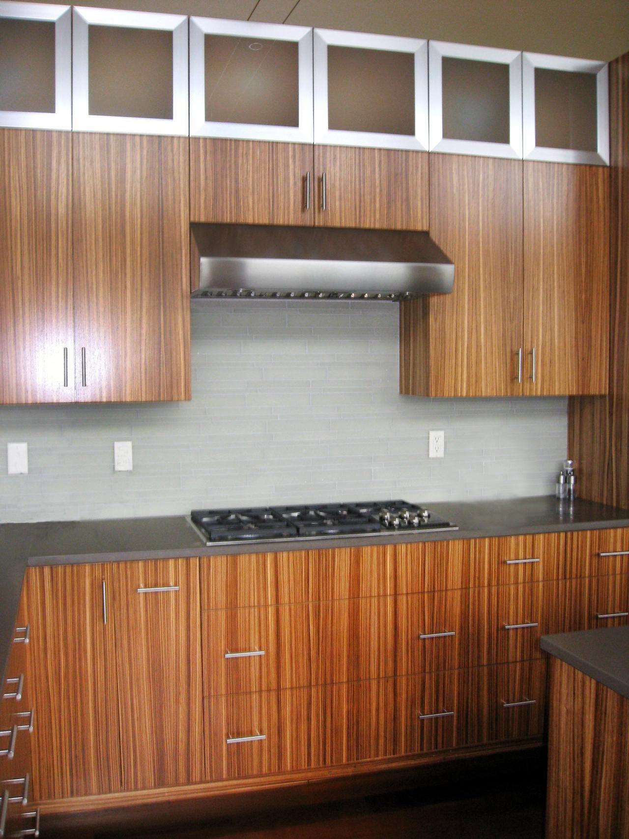 Modern Kitchen With Zebra Wood And Stainless Steel Cabinets Hgtv Design Star Upper Kitchen Cabinets New Kitchen Designs