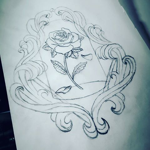 sketch for new tattoo design beauty and the beast inspired flower tattoos pinterest. Black Bedroom Furniture Sets. Home Design Ideas