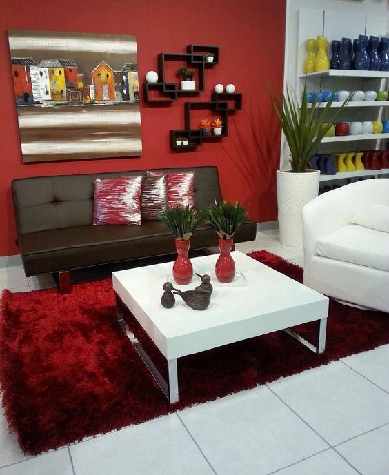Decoracion De Salas Color Chocolate Y Rojo Decoración De