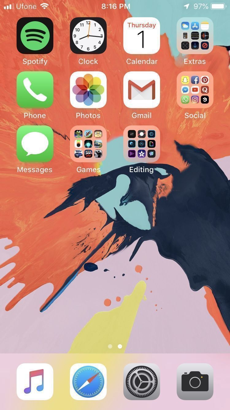 iPhone Home-screen layout