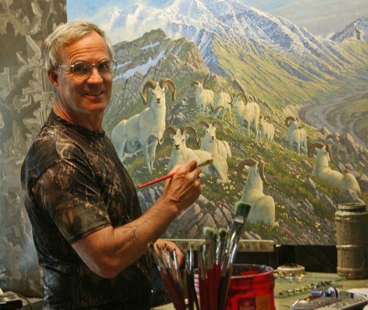 Minneapolis Painters: Wildlife Artist Michael Sieve Busy At Work. Art Barbarians Is Michael Sieve's Home Gallery