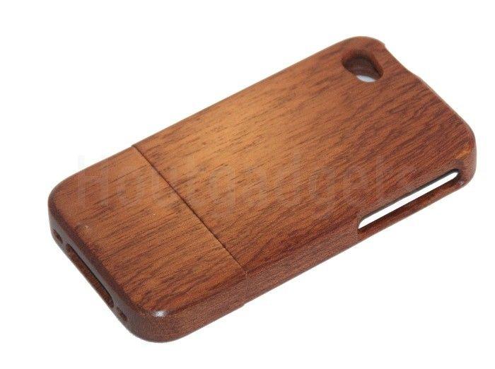Donker walnoot hoesje iPhone 4 of 4S