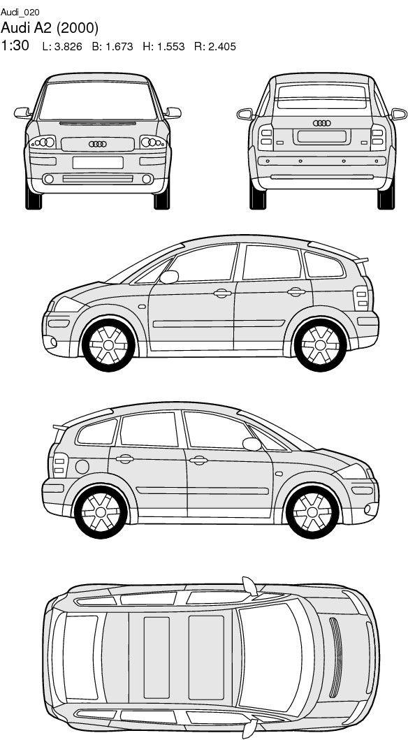 Audi a2 2000 super autos superauto autos - Modele dessin voiture ...