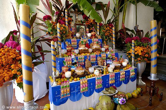altars for day of the dead | Photo of Day of the Dead Altar 1 - Scott L. Robertson Photography