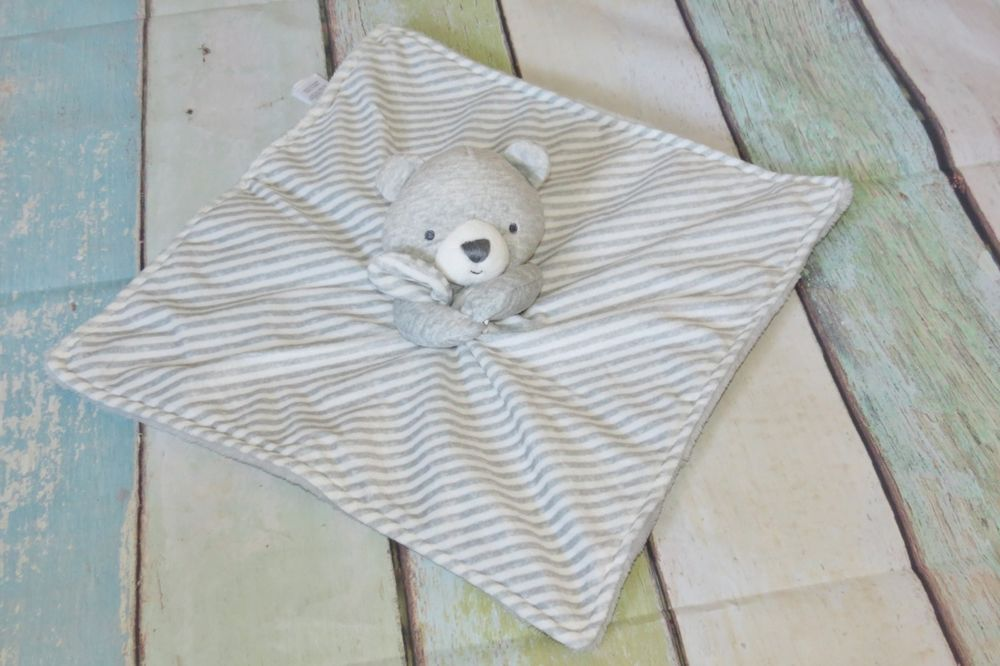 697eafc8a Just One You Gray Bear Striped White Carters Plush Lovey Security Blanket  Toy #JustOneYou