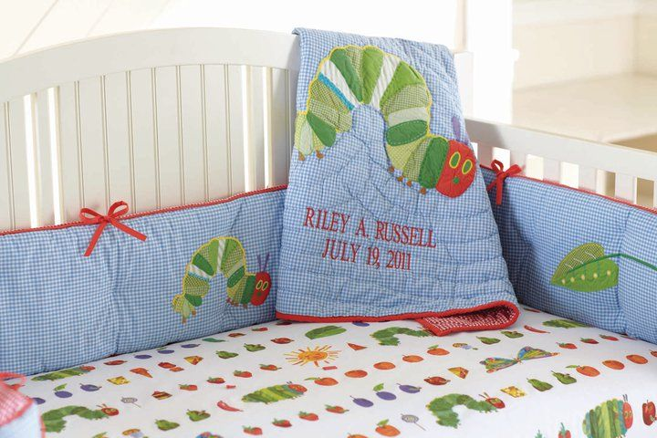 The Very Hungry Caterpillar Crib Sheet From Potter Barn Kids