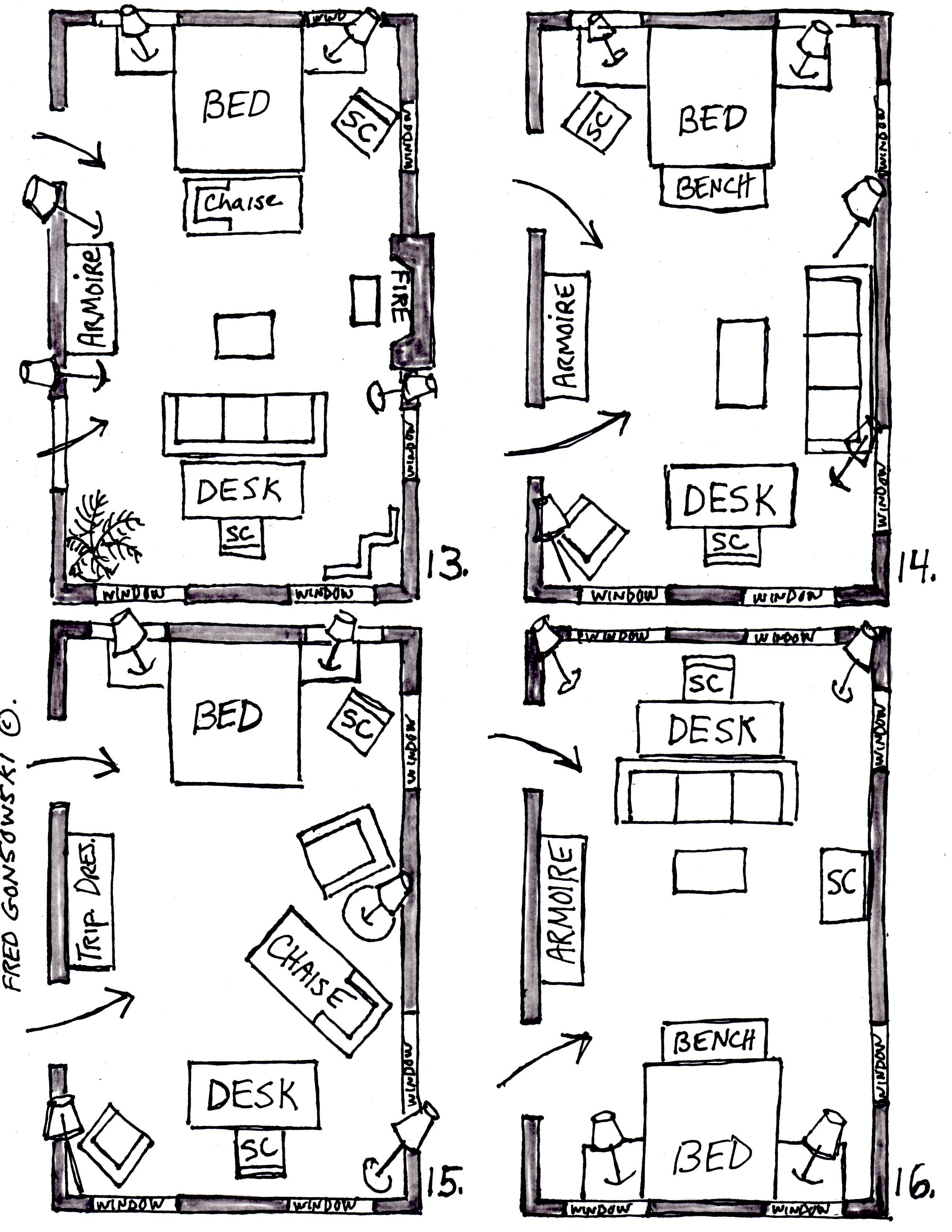 Arranging Furniture In A 15 Foot Wide By 25 Foot Long Bedroom