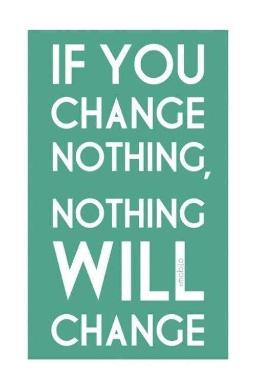 Change your thoughts = change the world.