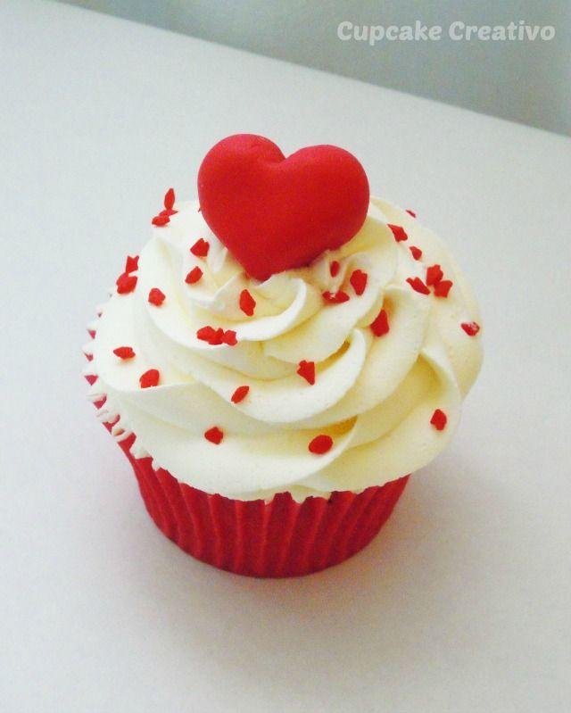 Cupcake Creativo Postres Románticos Para San Valentín En