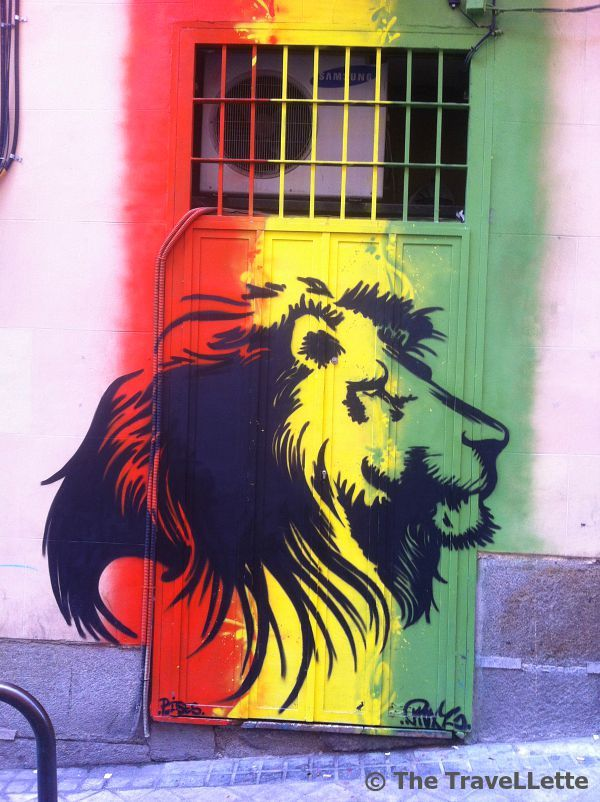 #streetart in the district of La Latina in #Madrid.  #lion