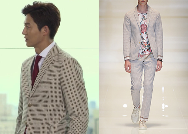 "Lee Jung-Jin 이정진 in ""Temptation"" Episode 8.  Gucci Spring 2014 Collection Suit #Kdrama #Temptation 유혹 #LeeJungJin"