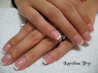 NAIL ART ACRYLIC UV GEL NAILS EXTENSIONOVERLAYSCRYSTAL Natural Overlay Pink And White French