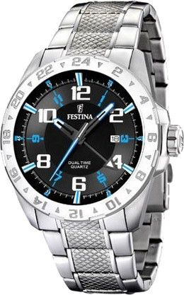 Special Offers Available Click Image Above: Festina Mens Sport Stainless Watch - Silver Bracelet - Black Dial - F16490-3