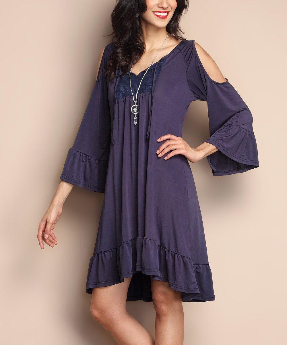 Look at this Navy Front-Tie Cut-Out Dress on #zulily today!