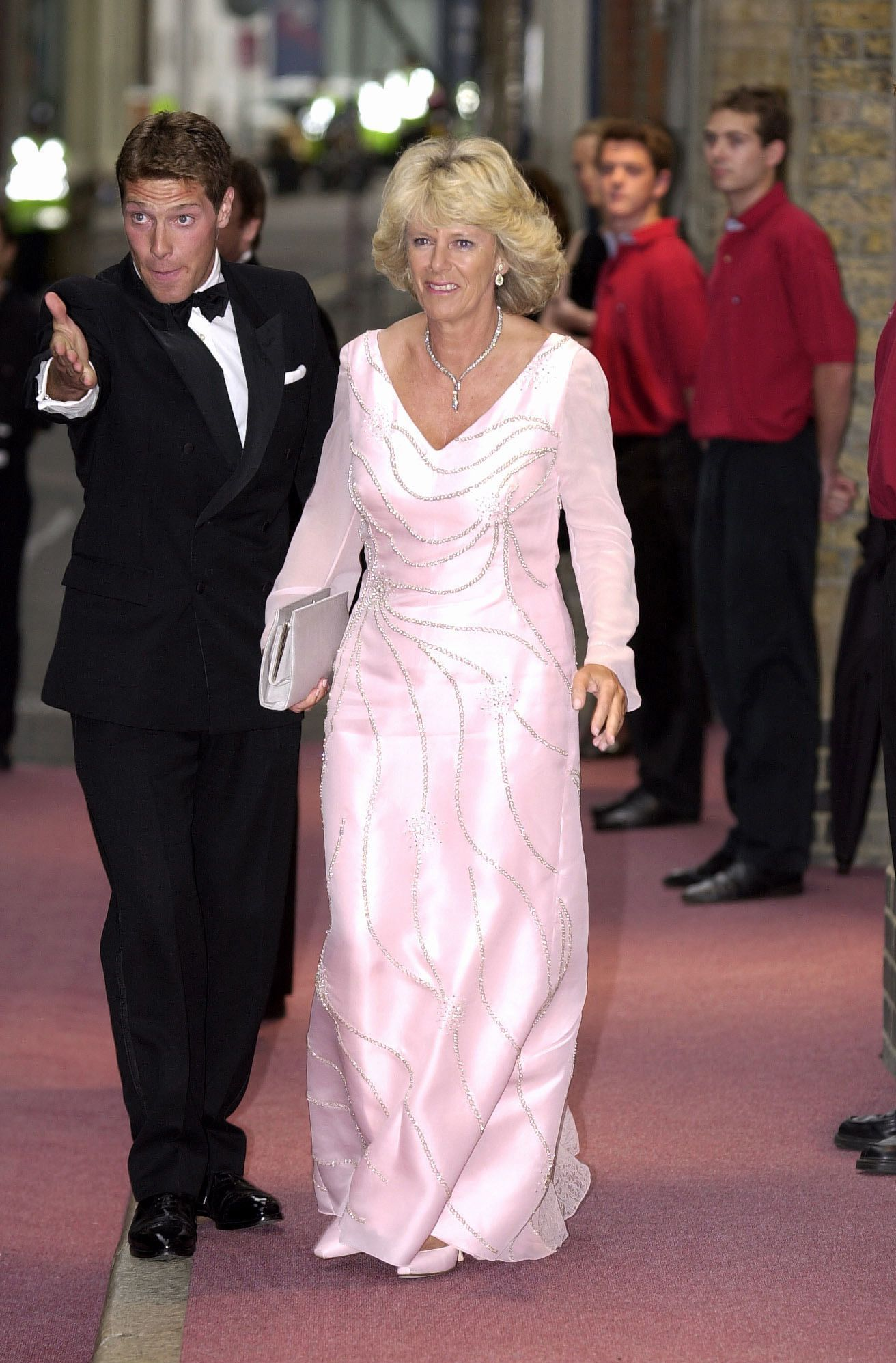 Camilla Parker Bowles Wore a Fluffy Hat with Will and Kate