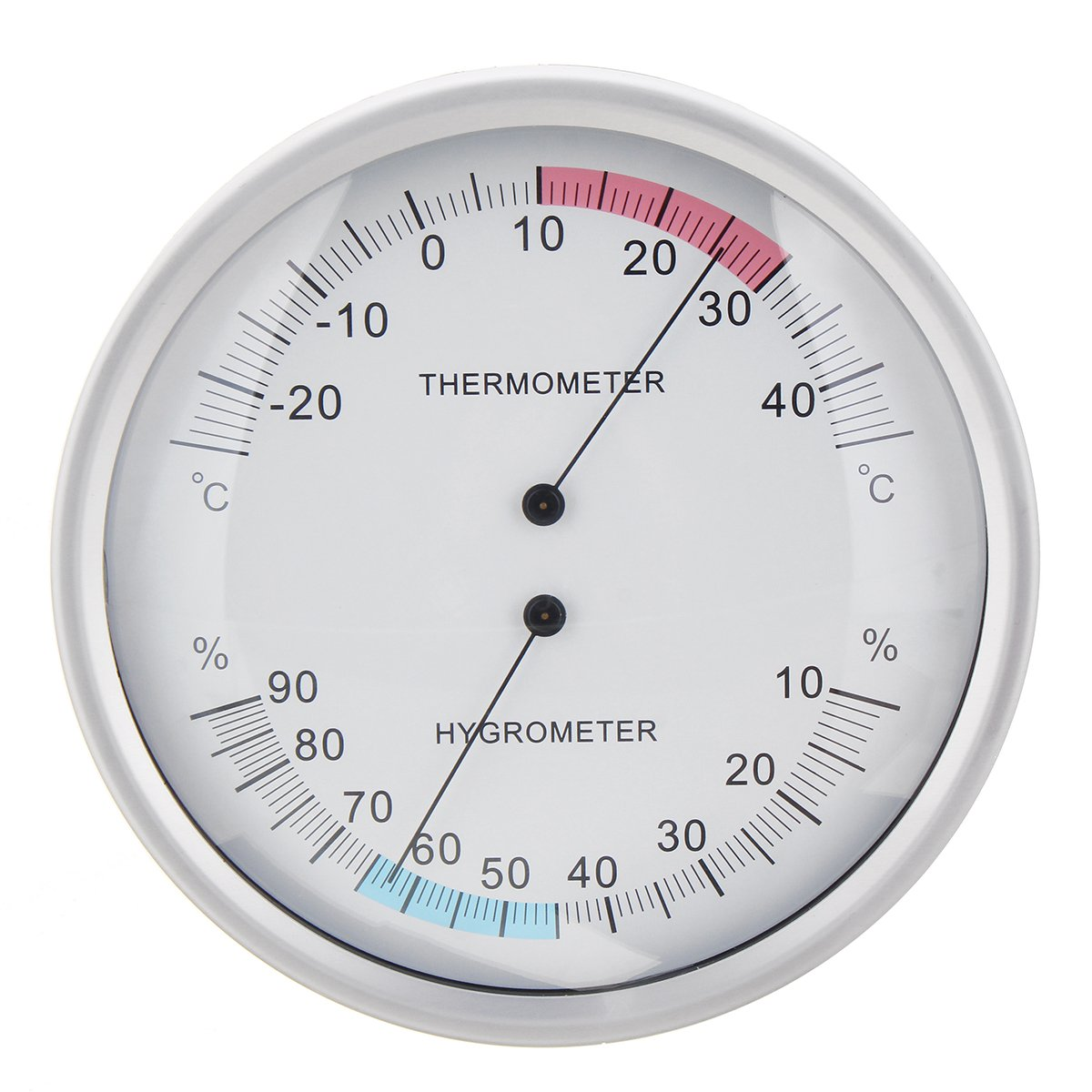 Two In One Wall Hanging Barometer Weather Thermometer Hygrometer Home 132mm In 2020 Hygrometer Barometer Thermometer