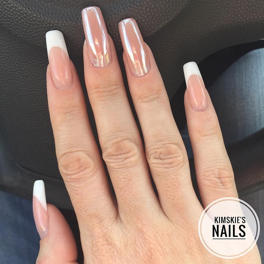 Kimskienails Op Instagram Ice Pigment On My Almost 4 Weeks Old Acrylic Nails Nails Acrylic Nails Instagram Posts