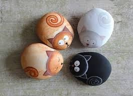 Resultado de imagen para pintar piedras