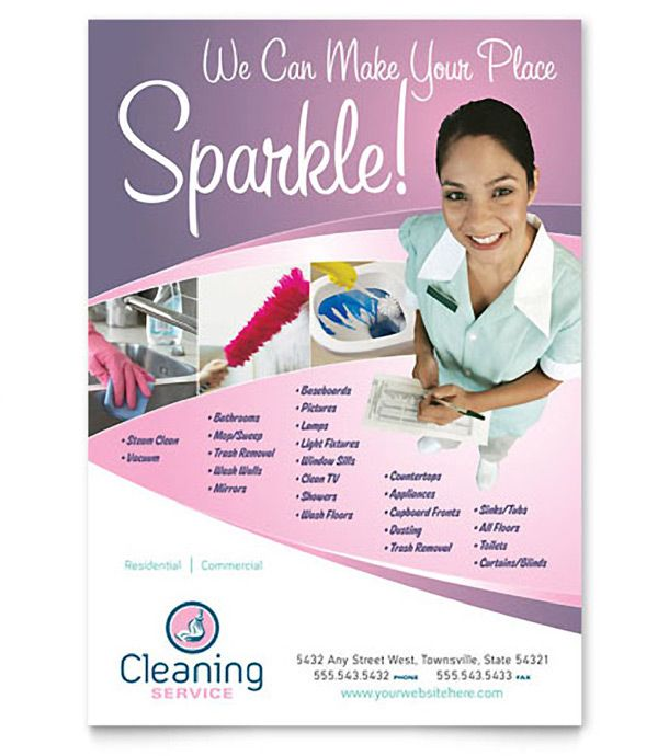 Jenny Cleaning Services Flyer cleaning business Pinterest - house cleaning flyer template
