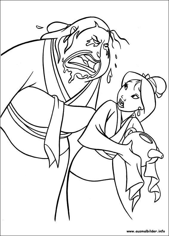 Mulan malvorlagen   Ausmalbilder   Pinterest   Mulan