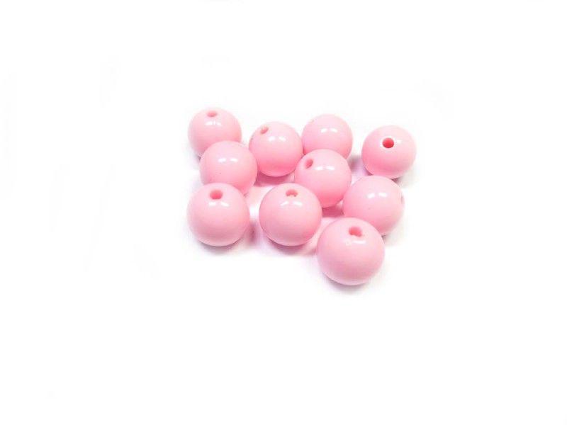 Kunststof kraal 12mm roze( 10 st) www.beadscreations.nl