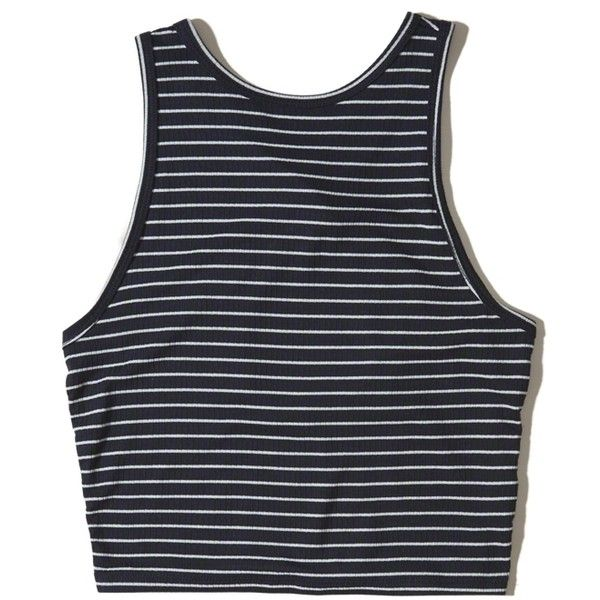 0f1024be3 Hollister Ribbed High-Neck Crop Top ( 15) ❤ liked on Polyvore featuring tops