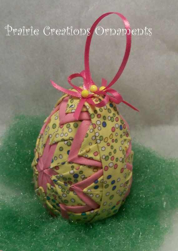Quilted Ornament Easter Egg Pattern and Kit by MyPrairieCreations, $12.95