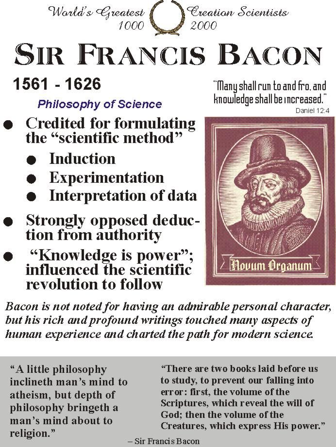 Sir Francis Bacon Philosophy Of Science Philosophy Francis Bacon