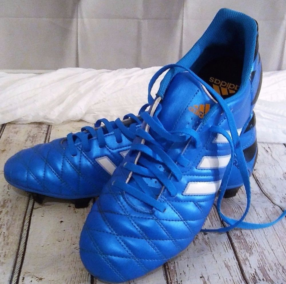 Adidas 11pro FG Profi Soccer Cleats Male Youth Size 9 1/2 Color Blue