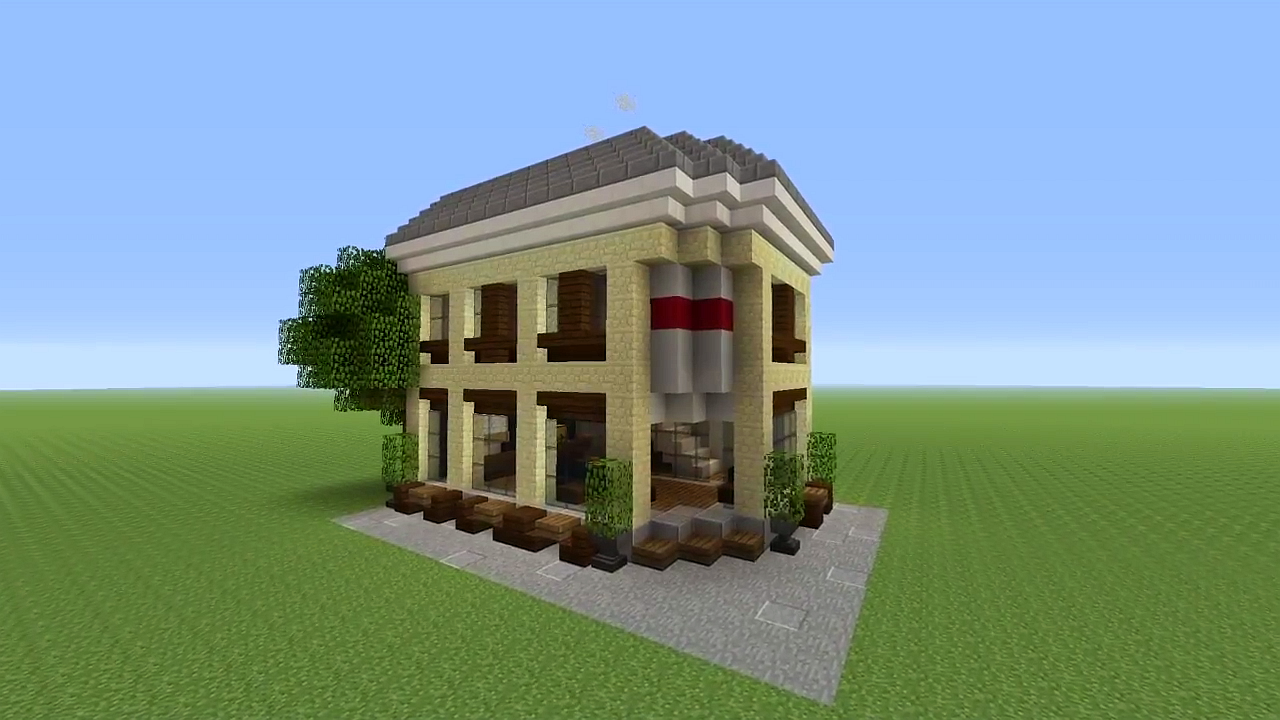 Coffee shop | Minecraft houses, Minecraft, Coffee shop