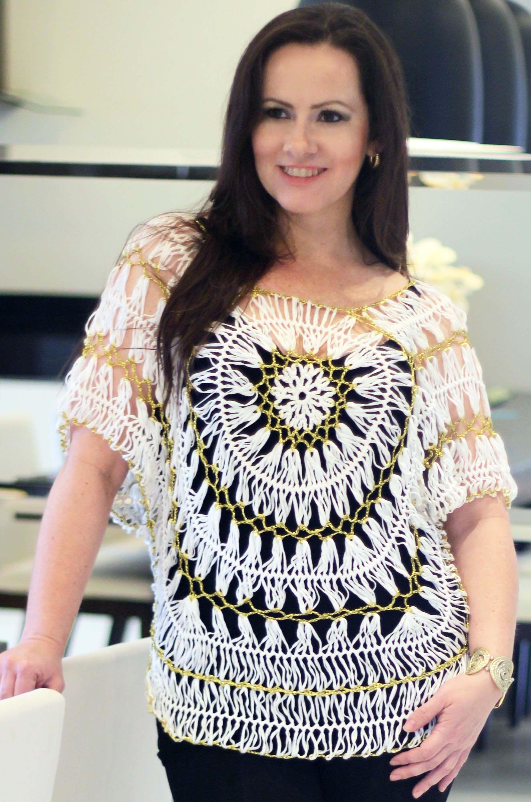 Crochê de grampo hairpin lace horquilla ganchillo crochet  602716f0ea5
