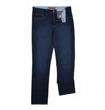Orange, Denim Dark Blue Jeans