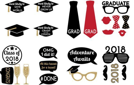 picture about Printable Graduation Photo Booth Props identify Commencement Image booth props-Printable- Commencement decor