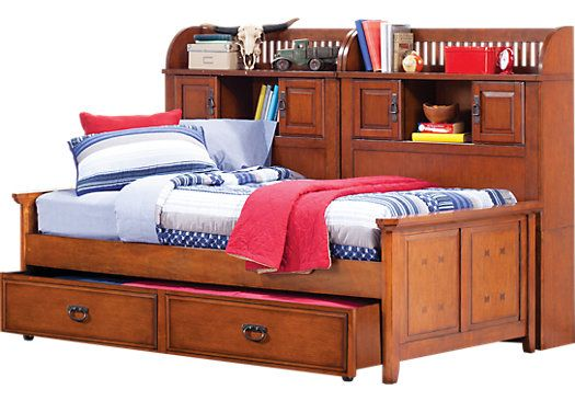 Mission Oak 5 Pc Full Bookcase Daybed Upstairs Room Kids Bedroom