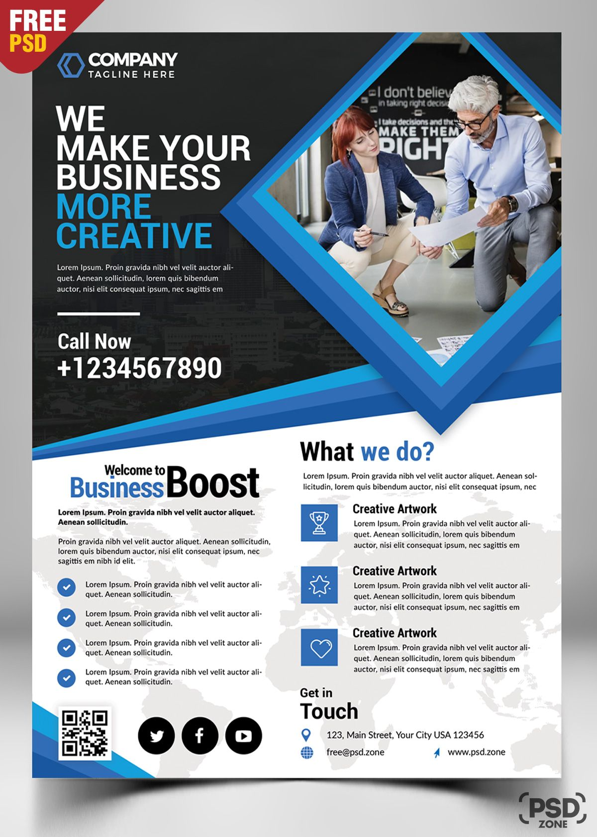 Corporate Business Flyer Free Psd Free Psd Flyer Business Flyer Templates Flyer Free Free business flyer template download