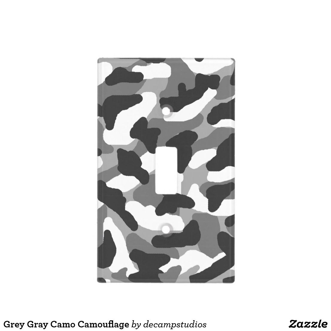 Grey Gray Camo Camouflage Light Switch Cover Zazzle Com Light Switch Covers Switch Plate Covers Camo Bedroom