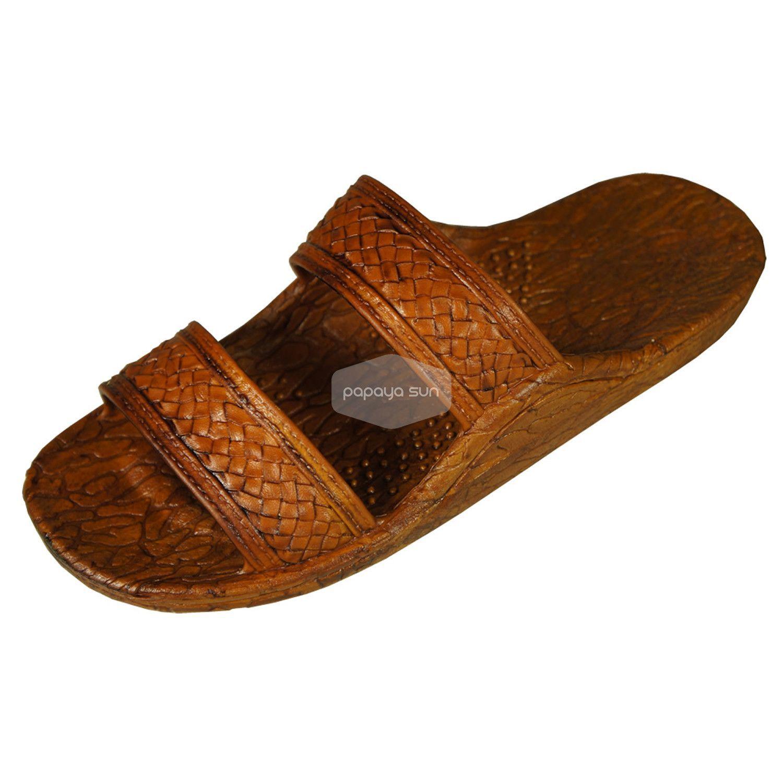 """f99061b1a Classic Light Brown """"Hawaiian Jandals"""" Pali Hawaii Jesus Sandals ..."""