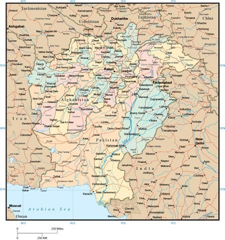 Afghanistan \ Pakistan Map with Provinces Pakistan map - fresh world map with all countries vector